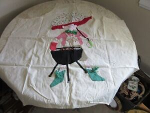 Vintage novelty chefs apron with hand made applique. Man, grill