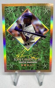 1994 KEN GRIFFEY, JR. Leaf Gold Stars #'d/10000 SP RARE BEAUTY!
