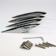 MAZDA RX-8 FENDER STRAKES - CHROME PLATED - ALL ALUMINUM ACCENTS FINS - 4pcs SET