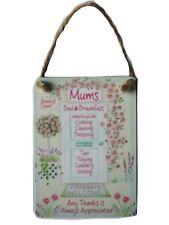 Mum's Bed & Breakfast Mini Metal Hanging Sign