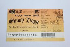 Snoop Dogg - Concert Ticket / Boblingen Germany Feb 2005   -  FREE SHIPPING -