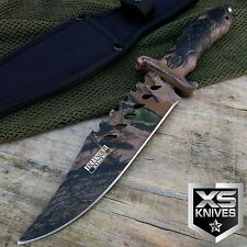 "10.5"" CAMO Tactical COMBAT BOWIE HUNTING Knife Survival Jungle Military - JV212"