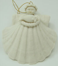 Vintage Margaret Furlong 1984 Shell Bird Partridge Angel Christmas Ornament