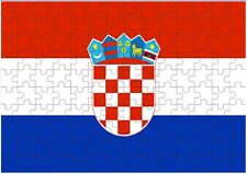 Croatia Flag A4 JIGSAW Puzzle Birthday Christmas Gift (Can Be Personalised)