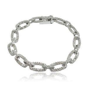 1ct TDW Diamond Rectangle & Bar Link Bracelet