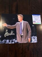 Steve Kerr Autograph 8x10 Photo PSA Golden State Warriors Chicago Bulls