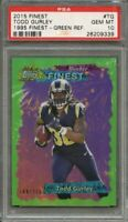 2015 finest 1995 finest green refractor #tg TODD GURLEY rams rookie card PSA 10