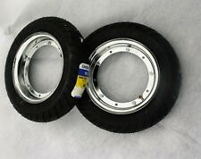 VESPA Reifen Michelin Felge CHROM Komplett SET 100 90 10 Cosa 200 APE 50 Piaggio