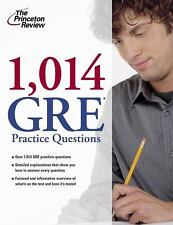 1,014 GRE Practice Questions Graduate School Test Preparation