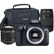 Canon EOS Rebel 1300D/T6 18MP DSLR Camera + 18-55mm + 75-300mm Lens + 100ES