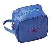 Cute Travel Makeup Bag & Small Toiletry Organizer, Waterproof - Light Blue