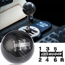 Black Car Manual Carbon Fiber 6 Speed Knob Gear Shifter Lever Round Ball Handle
