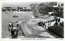 New Brighton Bathing Pool unused RP old postcard Whitfield & Cannon Wallasey