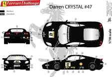 "[FFSMC Productions] Decals 1/18 Ferrari F-430 Challenge ""Darren Crystal"" # 47"