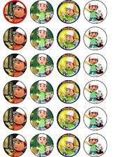24 X HANDY MANNY RICE PAPER BIRTHDAY CAKE TOPPERS