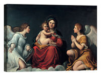 Francesco Albani Madonna con Bambino Stampa su tela Canvas effetto dipinto