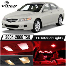 2004-2008 Acura TSX Red LED Interior Lights Package Kit