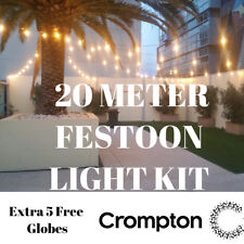 20pc Clear Festoon / Party String Light Kit - Bold Vintage Retro Style