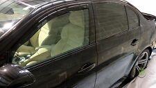BMW 5 SERIES E60 2004-2010 SET OF FRONT WIND DEFLECTORS HEKO TINTED 2pc