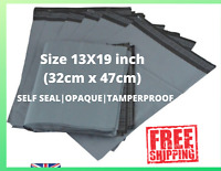 """13""""x 19"""" Grey Mailing Bags Strong Parcel Postage Plastic Post Poly Self Seal UK"""