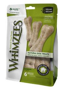 Whimzees Rice Bone 9 Pack - Natural Vegetable Dental Chew Treat Gluten Free Xmas