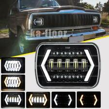 7x6 5X7 300W LED Headlight Halo DRL For 86-95 Jeep Wrangler YJ 84-01 Cherokee XJ