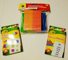 Summer school Pack Crayola Flash Cards & Foam Blocks 3 Piece Set Toddler Kids