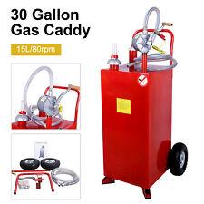 30 Gallon Gas Caddy Automotive Fuel Gasoline Fluid Diesel Storage Transfer Tank