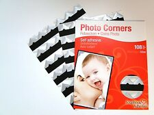 Colour Photo Corners Sticky Self Adhesive Album Scrapbook Frame 108 Acid 3l Silver Pack of 3