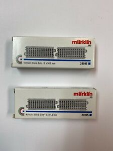 Two boxes of Marklin 24995 HO Scale C Track 4 tracks total