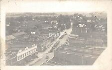 B85/ Bluffton? Indiana In Real Photo RPPC Postcard c1940s Dillers Store Birdeye