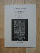 Vivaldi - Magnificat RV 610a-611 (Ricordi SATB & Piano Vocal Score 1989) VGC