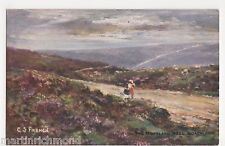 G.S. French, The Moorland Road, Goathland, JTR Series, Whitby Postcard, B530