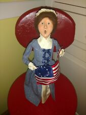 Byers Choice Betsy Ross - Woman Holding Flag Love America