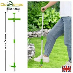 Weed Puller Stand-Up Weeder Root Killer Garden Lawn Long Handled Weeding Tool UK