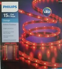 NEW Halloween Philips 15 ft Orange Flat Rope Lights Indoor/Outdoor PARTY FUN