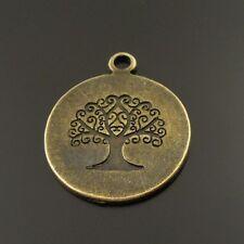 40 Stück Antiqued Bronze Lebensbaum Baum Charms Anhänger Dangles 19x19x1mm 38023