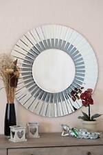 Morello Round Venetian Modern New Wall Mirror 2ft7 80cm