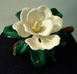 Vtg Jamar Mallory Studio Southern Magnolia Porcelain Flower 1974 Read Descrip.