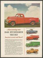 1949 STUDEBAKER TRUCKS  - 1948 Vintage Automotive Print Ad
