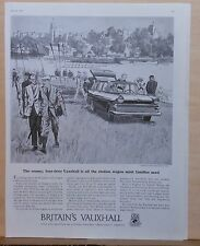 1959 magazine ad for Vauxhall - four door station wagon, rowing club