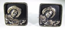 Cufflinks with Mariachi Playing Guitar by Hickok