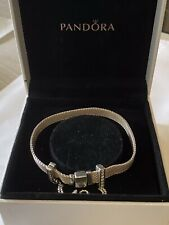 Pandora Reflexions Bracelet 19 Cms With Sparkling Safety Chain Clip Charm