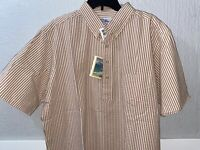 Vintage REYN SPOONER Men XL Shirt Casual Aloha Hawaiian Seersucker Bengal stripe