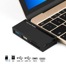 Type-C USB 3.0 Ports HUB OTG Type C Memory Card Reader Adapter For SD/TF Micro