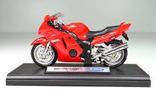 Honda CBR1100XX rot 1:18 von Welly Motorrad Modell die-cast