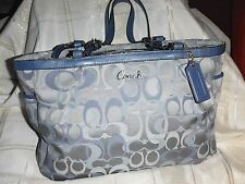 Authentic COACH Blue Gallery Optic Signature Tote - Relisted at lower price!
