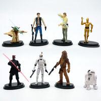 "8 pcs Star Wars 4"" Cake Topper Doll Luke Han Solo Yoda Strom Trooper Chewbacca"