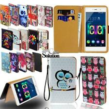 Flip Leather Card Wallet Stand Cover Phone Case For Wiko Smart Phones + Strap