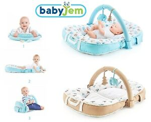 BabyJem Baby Lay Sit And Play Cushion Nest With Toy Arch 0m+ (ART-524)